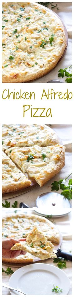 Chicken Alfredo Pizza | Recipe Runner | One of the best pizzas I've ever made! Tastes just like chicken fettuccine alfredo!