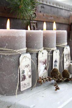 Piparkakku: Adventtikynttilöitä