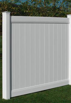 Veranda White Vinyl Linden Pro Privacy Fence Panel Kit