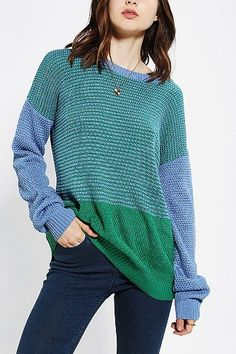 Coincidence & Chance Colorblock Sweater. i like this in purple multi!