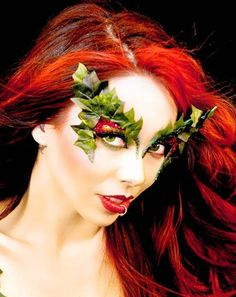 New for 2012 Xotic Eyes Toxic Poison Ivy Rhinestone Costume Eye Wear Unique Superhero Makeup, Eyeliner, Poison Ivy Costumes, Masquerade Costumes, Fairy Costumes, Halloween Costumes, Maquillaje Halloween, Glitter Eye Makeup, Theatrical Makeup