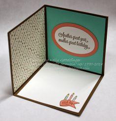 Always Stampin' with Kelly Gettelfinger: POP-UP CORNER CARD... inside view