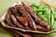 Asian Flank Steak with Ginger Balsamic Marinade - Main Dish #saveur #dinnerparty