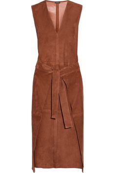 Joseph | Max wrap-effect suede dress | NET-A-PORTER.COM