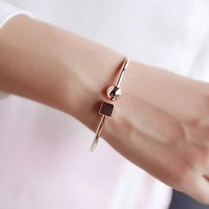 jewelry cube on sale at reasonable prices, buy Fashion Circle Square Open Bracelet Women Street Taste Geometry Bracelets & Bangles Jewelry Bijoux Rose Gold-color from mobile site on Aliexpress Now! Gold Bangle Bracelet, Diamond Bracelets, Gold Bangles, Gold Bracelet For Women, Braclets Gold, Ladies Bracelet, Jewellery Bracelets, Women's Bracelets, Silver Bracelets