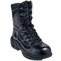 Reebok Boots: Women's Black Composite Toe Non Metallic Military Boots RB874