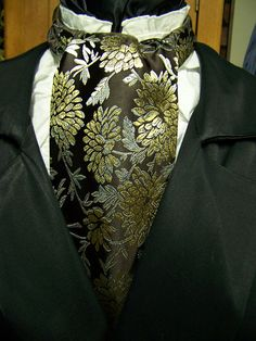 Cravat In A Brown With a Gold and Light Blue by lavonsdesigns, $22.95