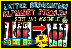 These puzzles will surely engage all students and are great to enhance letter recognition!      #LETTERRECOGNITION  #ALPHABET  #PUZZLES  #FUN  #MOTIVATING  #SORTING  #MATCH