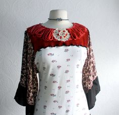 upcycled top. I could do this, using a scarf for sleeves.