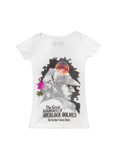 The Great Adventures of Sherlock Holmes women's tee- http://www.outofprintclothing.com/collections/womens-tees/products/the-great-adventures-of-sherlock-holmes-womens-tee