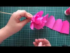 How To Make Morning Glory Flower From Crepe Paper - Craft Tutorial - YouTube