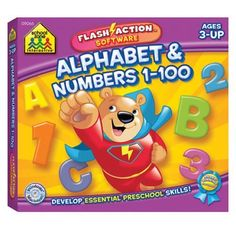 Alphabet & Numbers 1-100 by None. $9.95. Learn from a friendly dinosaur or count from 1-100 with a clever giraffe. Win/Mac CD. 3 years & up. 3 years & up. Learn the alphabet from a friendly dinosaur or count numbers 1 - 100 with a clever giraffe. Win/Mac CD.