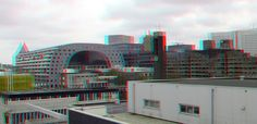 https://flic.kr/p/ZN8qhs | Rotterdam 3D | anaglyph stereo red/cyan Markthal