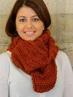 Procragratification Infinity Scarf from NiseyKnits | Check out patterns on Craftsy!