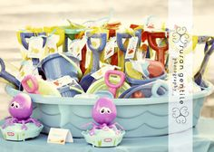 cute favor idea for a beach themed party... next summer for KB and Baby O?