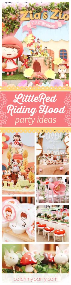 Don't miss this adorable Little Red Riding Hood 2st Birthday party! The birthday cake is absolutely amazing!! See more party ideas and share yours at CatchMyParty.com