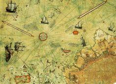 Piri Reis'in 1513'te hazırladığı dünya haritası.
