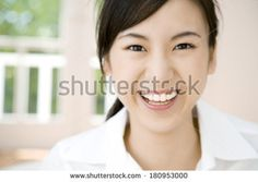 Japanese woman with a smile - stock photo Asia, Japanese, Smile, Stock Photos, Woman, Japanese Language, Laughing