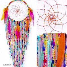 Sherbert Fairy Native Style Woven Dreamcatcher by eenk on Etsy, $59.00
