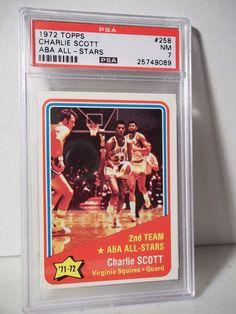 1972 Topps Charlie Scott PSA NM 7 Basketball Card #258 NBA Collectible…