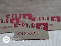 bordkort til jul - tag / table place card - landscape die - christmas - Edgelits Schlittenfahrt