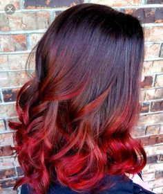 red ombré hair