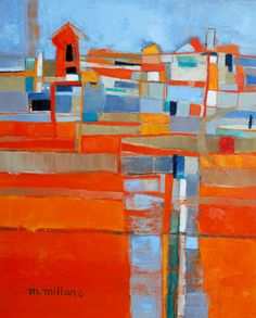 works on canvas « Mareva Millarc 'Little village'