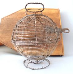 Ancien Panier A Oeuf FIL DE FER Deco Cuisine Antique French Basket EGG Kitchen | eBay