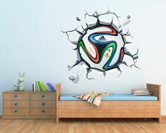 Muurstickers - Wanddecoratie Muursticker WK-Bal Afgedrukt Brazuca - Een uniek product van Wall-Decals op DaWanda