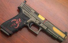 Custom @glockinc theme inspired 34 MOS by @overwatch_customs @hillbilly223urban & @infinite_irons avail from @otbfirearms #glockporn #glockfanatics by gunsdaily