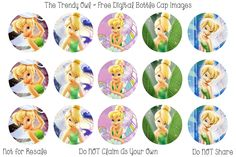 Tinkerbell Retired images uploaded as freebies! Bottle Cap Necklace, Bottle Cap Art, Bottle Cap Images, Tinkerbell And Friends, Tinkerbell Party, Bottle Top Crafts, Bow Image, Disney Buttons, Girl Superhero Party