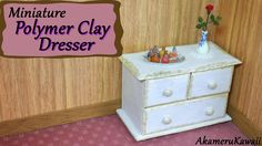 Hi guys! Many have asked how to make dollhouse furniture from polymer clay, so today we're making this miniature dresser. If you wanna see more polymer clay ...