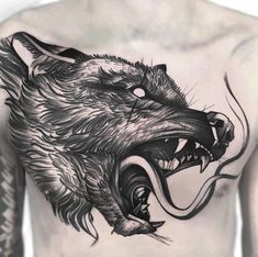 60 Amazing Wolf Tattoos - The Best You'll Ever See - Page 6 of 6 - Straight Blasted Wolf Tattoos, Black Tattoos, Small Tattoos, Tattoos For Guys, Flower Tattoos, Manos Tattoo, Tattoo L, Watercolor Wolf, Watercolor Tattoos
