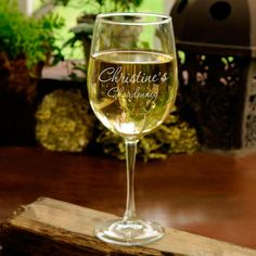 Connoisseur White Wine Glass (19 oz.) from I Do Engravables.  This sparkling wine goblet is traditional yet elegant and will make an great idea for the bride at her bridal shower.  http://www.idoengravables.com/engravable_signature_mats_guest_book_cp/GC408/bridesmaid_glassware/Connoisseur+White+Wine+Glass+%2819+oz.%29/