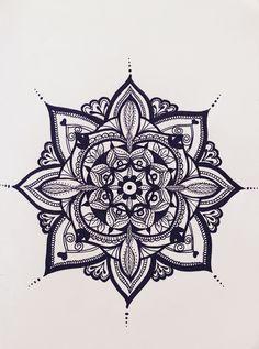 Found out Mandala drawing - it's amazing! My first Mandala #1
