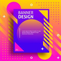 Creative Colored Banner With Modern Shapes Graphic Design Posters, Graphic Design Illustration, Graphic Design Inspiration, Banner Design, Layout Design, Web Design, Powerpoint Design Templates, Album Design, Wireframe