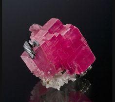 Rhodochrosite with Hubnerite and Quartz Sweet Home Mine, Mount Bross, Alma District, Park Co., Colorado, USA 48mm x 45mm x 36mm