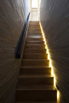http://www.designerhk.com/blog/15/8280  I like this idea of the light on a staircase but instead why not behind it be a glass window facing east or west so natural will come thorugh