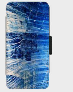 """Flip-Case """" Blue Scratched """" von Zierrat auf DaWanda.com"""