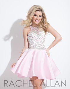 Rachel Allan 4044 Light Pink Homecoming Dress