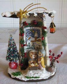 Christmas Scene Setters, Christmas Time, Clay Crafts, Diy And Crafts, Merry Christmas, Christmas Ornaments, Diy Hair Bows, Mural Art, Miniture Things