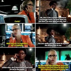 """Wild Dog isn't a superhero. He's a vigilante"" - Felicity and Curtis #Arrow"
