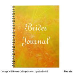 Orange Wildflower Collage Brides Journal