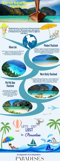 Exotic Beaches of Thailand #infographic #Thailand #Travel #Beaches #infografía