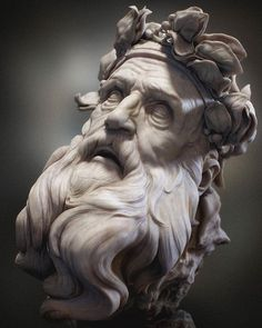 Statue of Zeus - pinkmoon Statue Tattoo, Zeus Tattoo, Poseidon Tattoo, Ancient Greek Sculpture, Greek Statues, Zeus Statue, Poseidon Statue, Greek Mythology Tattoos, Art Sculpture