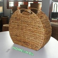 Home24h co,.ltd: Water Hyacinth Storage Baskets / Log Basket for shelves