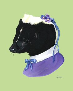 Skunk Lady art print