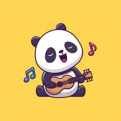 Cute Panda Drawing, Cute Panda Cartoon, Cute Cartoon Drawings, Cartoon Styles, Cute Panda Wallpaper, Bear Wallpaper, Panda Wallpapers, Cute Cartoon Wallpapers, Images Kawaii