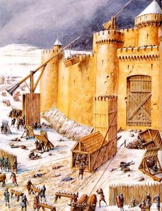 Medieval siege, from the Middle French word for cold-ass waste of time.