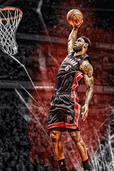 One of my all-time favorite NBA players, LeBron James, playing for my favorite team, the Miami Heat. Basketball Art, Basketball Pictures, College Basketball, Basketball Players, King Lebron James, Lebron James Lakers, Nike Lebron, King James, Nba Stars